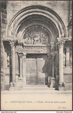 Porche du Latéral Gauche, L'Église, Saint-Gilles, c.1910 - Neurdein CPA