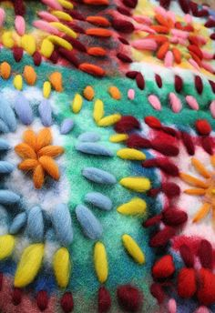 Beautiful embroidered felt