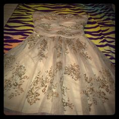 Party gold dress Party gold dress for any occasion this was never worn Deb Dresses Mini