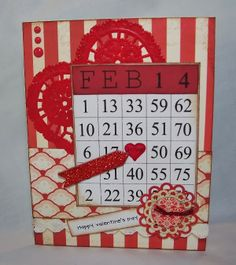 @Debbie Fisher created this adorable Cutting Cafe Valentine Bingo using #Tombow #Xtreme adhesive