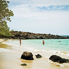 Big Island, Hawaii: The beach near Puakea Ranch, an anti-resort with four private bungalows on the Big Island's northern tip.