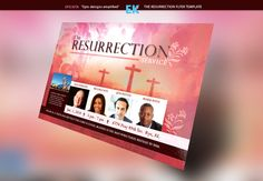 The Resurrection Flyer Template by Epickita on Creative Market church #resurrection #easter #sunday #eastersunday	#invitation #churchflyer #easterflyer #conference #meeting #marketing #restaurant	#birthday #party #jesus #god #postcard 	#psd #flyer #cross #preacher #pastor #artwork #prayer #christian #christianflyer #celebration #banquet #appreciation #risen #holy