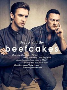 Dan Stevens and Luke Evans - Glamour UK