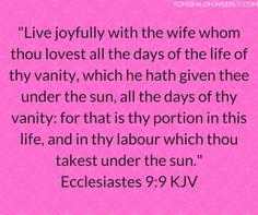 Ecclesiastes 9:9 KJV