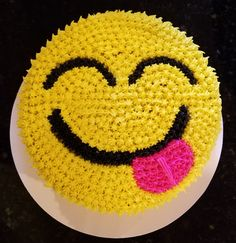 Yum Emoji I made this for a friend. It& the first cake I have ever sold. I& not quite ready for scratch recipes so it is box. Cupcake Emoji, Emoji Cake, Cupcake Cakes, Cake Decorating For Kids, Cookie Bouquet, Cupcake Bouquets, Mother's Day Cookies, Hazelnut Cake, Cake Decorating Techniques