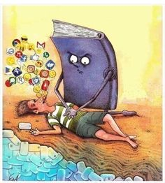 Pictures With Deep Meaning, Art With Meaning, Lake Pictures, Funny Pictures, Caricatures, Satirical Illustrations, Meaningful Pictures, Deep Art, I Love Books