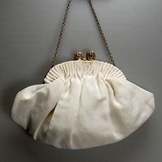 Lovely original vintage wedding purse with chain handle