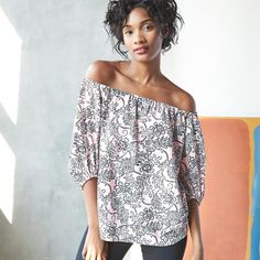 Off-the-shoulder? So on trend.
