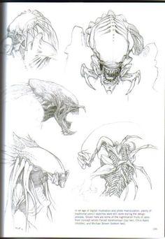 AVP: Requiem Predalien concept art by Farzad Varahramyan, Chris Ayers, and Michael Broom