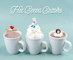 Winter just got a little sweeter with a cup of hot chocolate and a few of these candy critters. | Handmade Charlotte