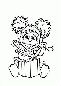 Peek A Boo Elmo Coloring Page   HM Coloring Pages   Elmo ...