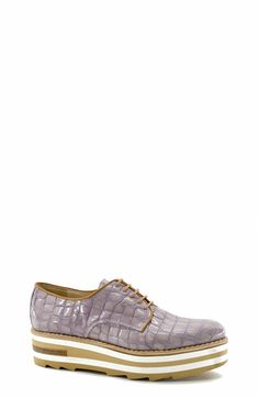 Animal-print Lace-up Shoes. Zinda #SS16 Collection