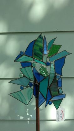 Gorgeous Teal Green & Blue Stained Glass by HudsonMowerDames, $55.00