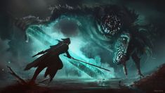Dark Souls 2, Demon's Souls, Bloodborne Art, Old Blood, Horror Themes, Image Painting, Cute Horses, Fantasy Landscape, Dark Fantasy Art