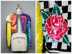 ANN LAWRENCE Fully Sequined Novelty Jacket // RARE by braxae