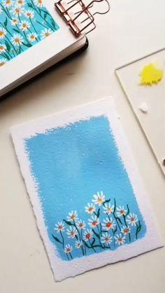 Gouache Painting, Diy Painting, Watercolor Art Lessons, Watercolour, Watercolor Paintings, Mini Canvas Art, Small Canvas Art, Art Painting Gallery, Journaling