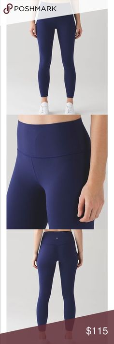 Lululemon HERO BLUE Align pants. Nwts. Size 10 Lululemon hero blue Align pants. Size 10. Brand new with tags!   fabric + features lightweight, buttery-soft Nulu™ fabric wicks sweat and is four-way stretch soft, no-dig waistband lies flat against your skin smooth, high waistband sits close to your body and stays in place tuck your key or card in the hidden interior waistband pocket  engineered to feel like your go-to, lightweight, second-skin layer--you'll forget you're wearing this…