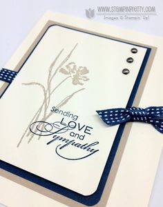 Mary Fish has created a simple and elegant sympathy card using very vanilla, sahara sand, and midnight muse.