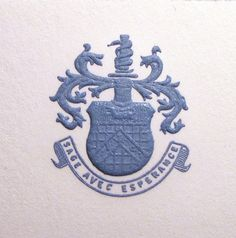 Connor Stationary Hand Engraved Crest