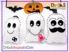 Chaveiros em feltro: Família Fantasma • Drika Artesanato - O seu Blog de Artesanato.