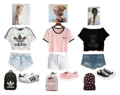 """Summer outfits for teen girls ;)"" by luv2dance04 ❤ liked on Polyvore featuring adidas Originals, Barbour International, True Religion, Converse and Vans"