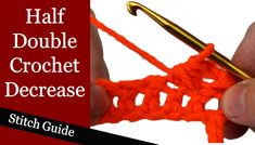 Crochet Stitch Guide - Learn all of the different crochet stitches.