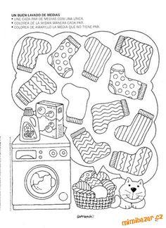 Pracovní listy | Mimibazar.cz Clothing Themes, Fall Preschool, Thinking Skills, Kindergarten Worksheets, Preschool Activities, Kids And Parenting, Kids Learning, Art For Kids, Album