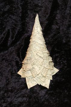 Creative DIY Christmas Tree (I'll use vintage sheet music or book pages)