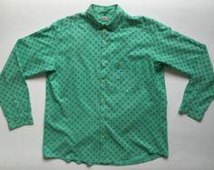 Rifle fashion camicia uomo vintage size XXL verde usato Retro style chic shirt…