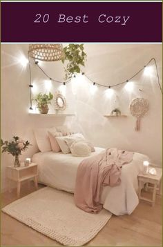 Layer Your Lighting - Minimalist bedroom with large pink, painted accent circle on wall. Layer your lighting with a mix of overhead and wall fixtures.... Teenage Girl Bedroom Decor, Boho Bedroom Decor, Girl Bedroom Designs, Girls Bedroom, Bedroom Ideas, 1980s Bedroom, Childrens Bedroom, Small Room Design, Cute Dorm Rooms