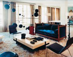 #Velvet is on trend in #interiordesign. The furniture designer Hervé Van der Straeten's drawing room in Paris.http://tmagazine.blogs.nytimes.com/2013/08/23/in-the-air-international-velvet/?ref=womens-fashion