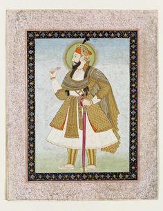 Abul-Hasan Qutb Shah Abul Hasan, Old Warrior, Islamic Paintings, Study Materials, Hyderabad, Indian Art, Art And Architecture, Warriors, Persian