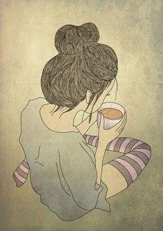 Un thé en pyjama.