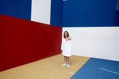 IN COLOR WE TRUST  Model - Irina Stylisme/Photo - Camille Olivieri  Robe Jacquemus / Basket Nike Air Force 1 / Chaussettes Asos