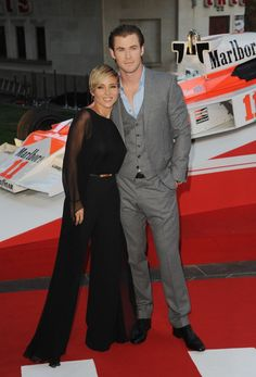 Elsa Pataky and #ChrisHemsworth at the 'Rush' premiere