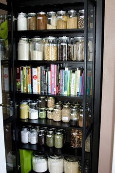 This is a fabulous idea for kitchen storage for while we our renting... maybe in white? with a crazy color painted on the back, like turquoise or purple? hmm...