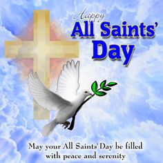 All Saints' Day Message Ecard.  #christianity  #christian  #saint