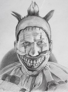 This fella comes from the fourth season of American Horror Story, Freak Show. Twisty the Clown had some issues but hey who doesn't. Hope you enjoy. Twisty the Clown Scary Clown Drawing, Scary Drawings, Creepy Clown, Creepy Art, Cool Art Drawings, Art Drawings Sketches, Drawing Ideas, American Horror Story Clown, Famous Art Paintings