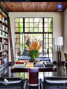 Library space, steel framed door/windows
