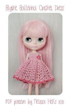 PDF Pattern Crochet Blythe Ballerina Dress. $8.50, via Etsy.