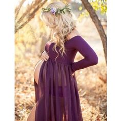 Roxy Gown – Long Sleeve Sheer Chiffon Maxi Style Maternity Gown: How to Dress when Pregnant. Maternity Photography Poses, Maternity Poses, Maternity Portraits, Maternity Dresses, Photography Props, Pregnancy Photography, Summer Maternity Photos, Maternity Photo Shoot, Couple Maternity