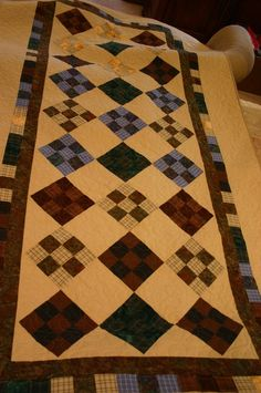 Andrew's Quilt from Grandpa Tracy's old plaid shirts.