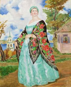 Купчиха. Борис (1878-1927) Кустодиев