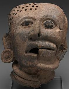 Head with life and death aspects, Veracruz, Gulf Coast, Mexico, National Gallery of Victoria, Melbourne