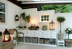 beautiful and sweet: green area and veranda, house ., beautiful and sweet: green area and veranda, house There are several issues that can certainly last but not least finish ones back garden, just like an antique whitened picket fence as . Outdoor Rooms, Outdoor Gardens, Outdoor Living, Gazebos, Outdoor Projects, Exterior Design, Living Spaces, Living Room, Sweet Home