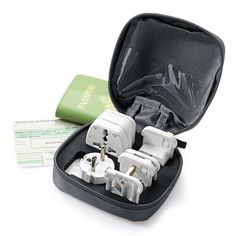 6-Piece Adapter Kit with Snap-On Plugs for Most Countries - Brookstone