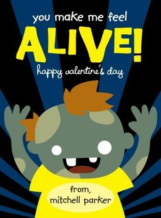 Share some 'Zombie Fun' with your child's classmates with this adorable Valentine's Day card for kids.