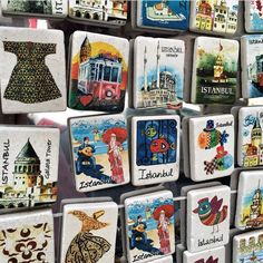 Стамбульские сувенирчики Istanbul, Baseball Cards, City, Magnets, Sports, Instagram, Sport, City Drawing, Cities