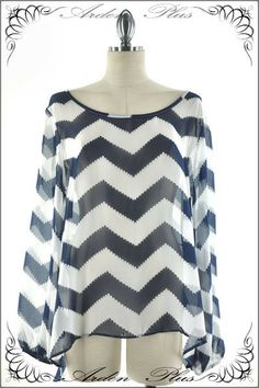 Blue and White Chevron Shirt 1x, 2x, 3x. $42.00. Blondellamy'Dean is a boutique just for Curvy Girls. Sizes 10-36.