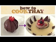 MAGIC CHOCOLATE FLOWER DESSERT How To Cook That Ann Reardon - YouTube